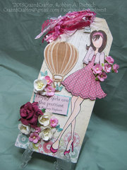 Prima Mixed Media Doll Stamp Tag