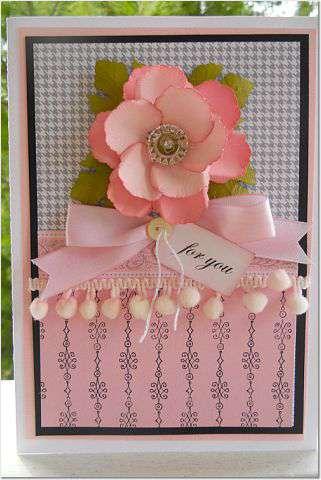 Pretty Pink Flower Card