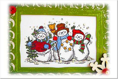Snowman Trio Close Up