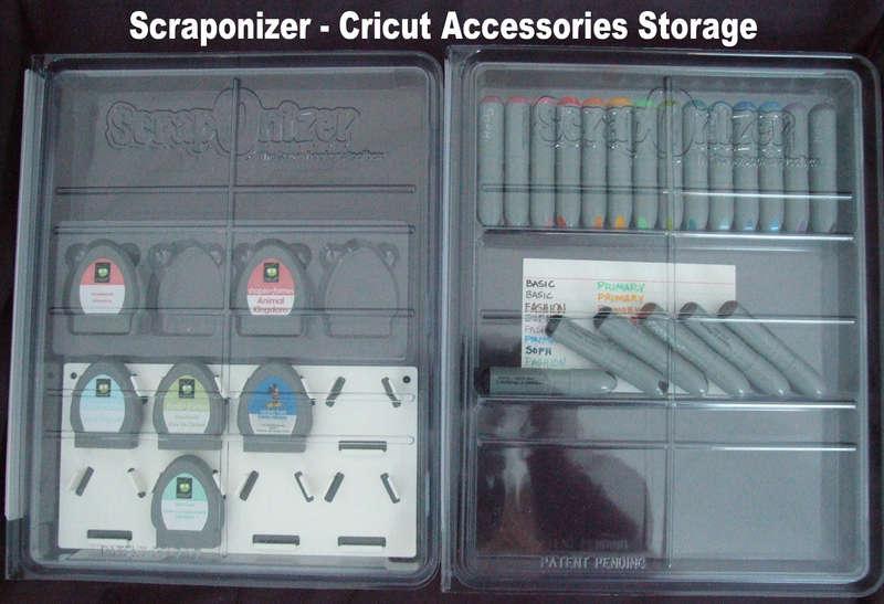 Cricut Accessory Storage using Scraponizer