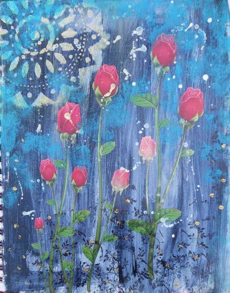 Roses at Night