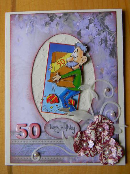Hubby's 50th b-card
