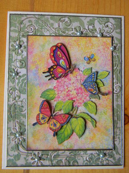 3D butterfly card