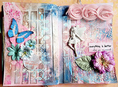 art journal page - everything is better