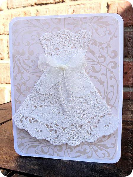Lace Doily Dress Card