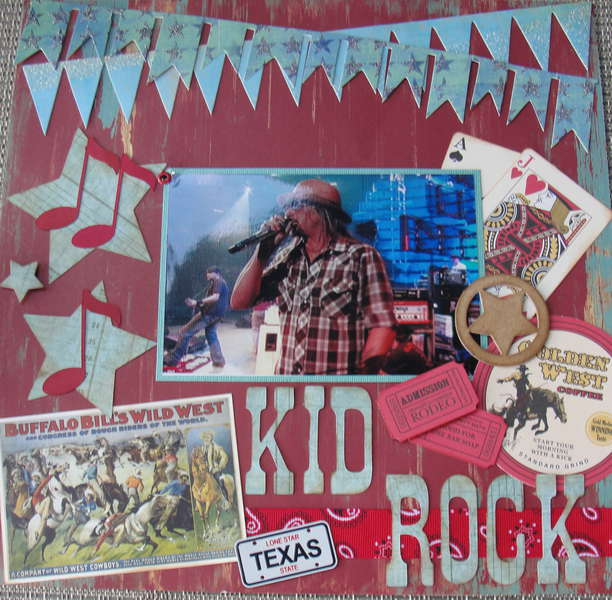 Kid Rock at the Houston Rodeo Feb.  2012