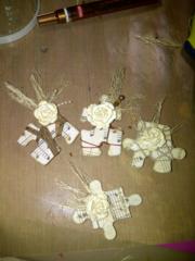 Vintage puzzle pieces