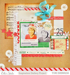 Christmas layout *Elle's Studio*