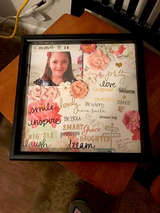 INspire frame I made for my granddaughter  to hang in her room so she can see how special she is