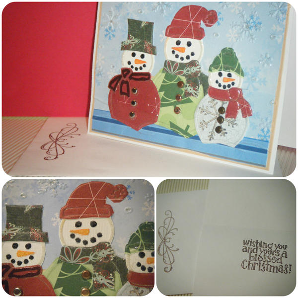 Embedded Embossing Christmas Card Challenge