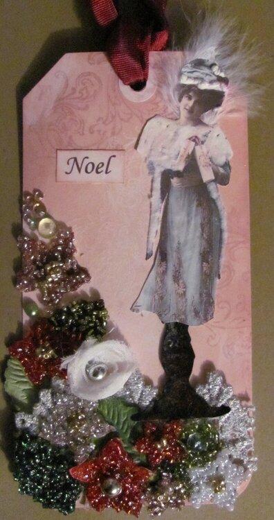 Dress Form Tag Noel - for Swap