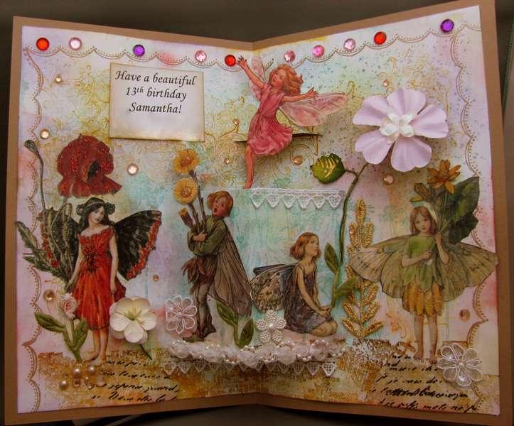 Fairy Happy Birthday - Pop-up inside
