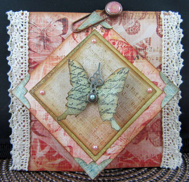 Butterfly Diamond Fold Card