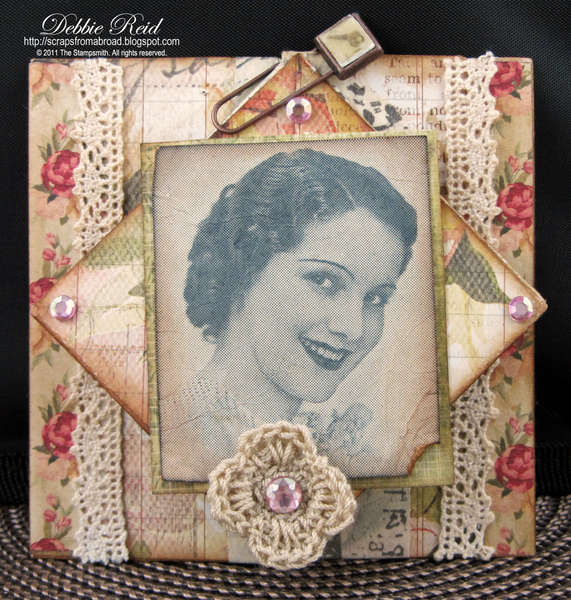Vintage Diamond Fold Card