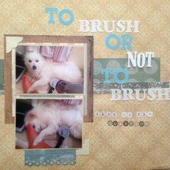 To brush or not to brush