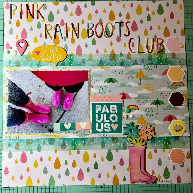 Pink Rain Boots Club