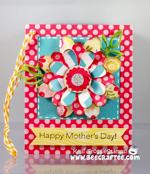 Mother's Day tag with Flower Magnet