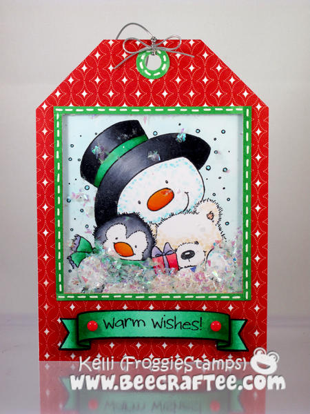 Warm Wishes Gift Tag - Shaker