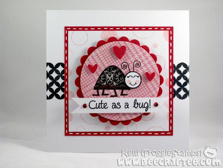 Cute as a bug! - Shaker Card
