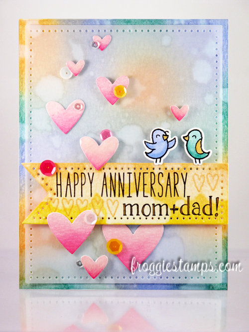 Happy Anniversary Mom + Dad! with Distress Inks