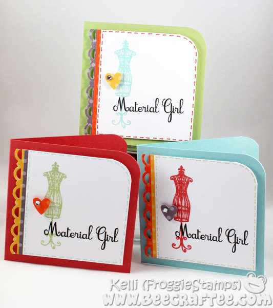 Material Girl Note Card Set