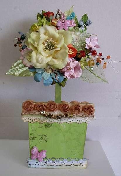 Topiary flowerpot card