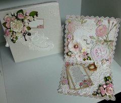 Wedding Easel card and box