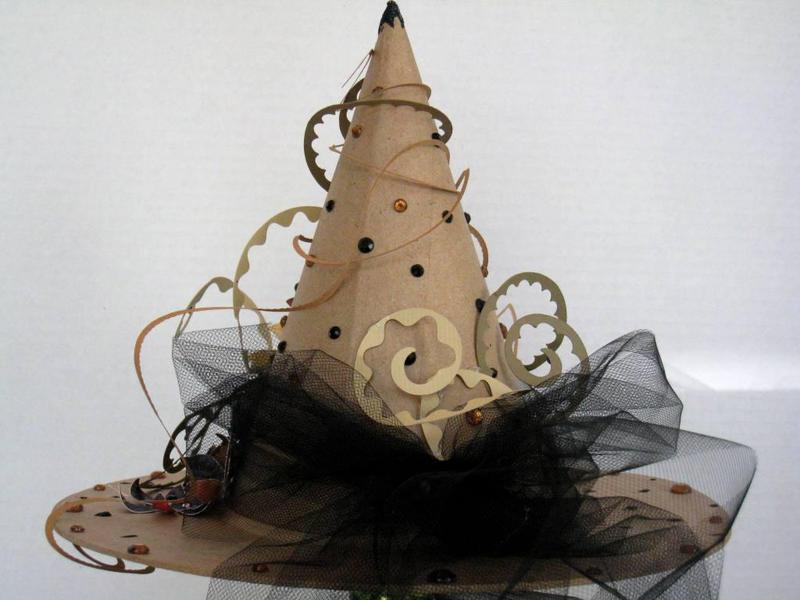 Witch hat, back view