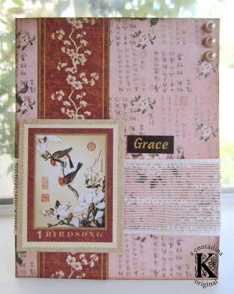 """Graphic 45 """"Birdsong"""" Grace Card"""