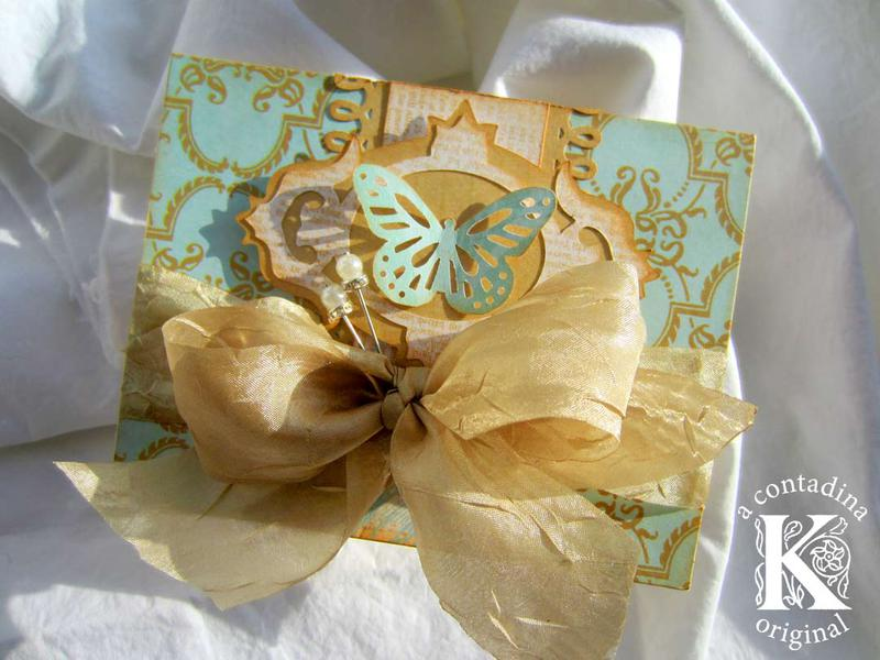 Vintage Butterfly Card **Really Reasonable Ribbon DT**