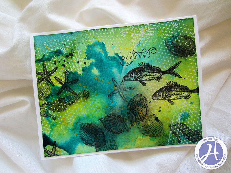 """Oceanus"" Card **Hampton Art DT**"