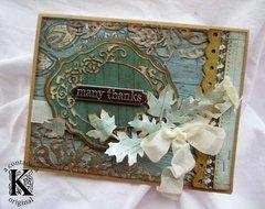 Autumn Card w/ Authentique **Sizzix DT**