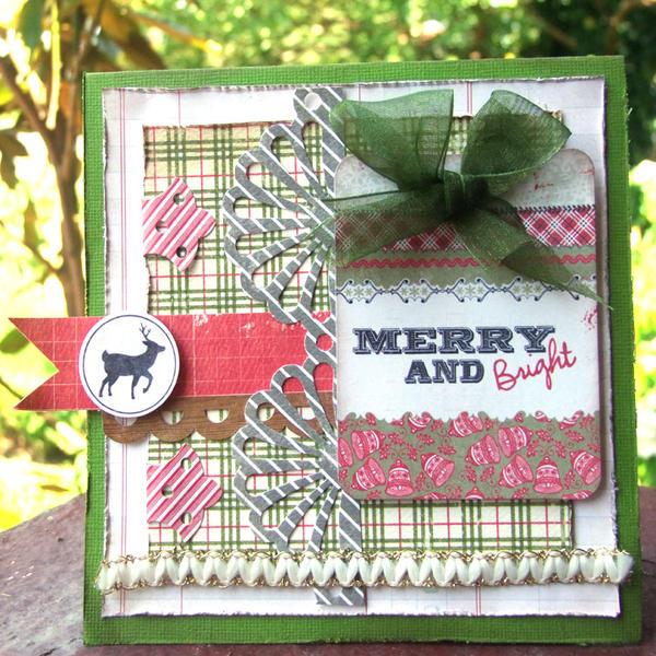 **My Creative Scrapbook** Merry & Bright Card