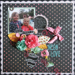 **Sassy Scrappers **Neon Love