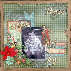 **Sassy Scrapper** Peace Love Joy