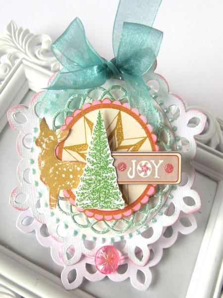 Joy Xmas Easel Card