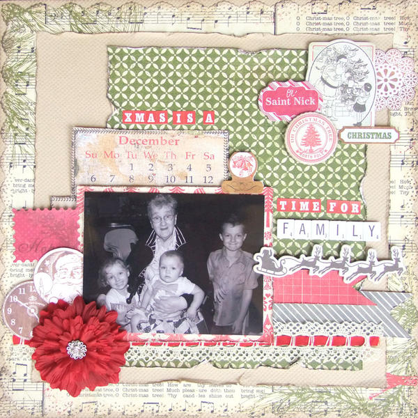 **My Creative Scrapbook** Xmas is a time for family
