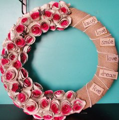 **Rolled Rose Wreath**