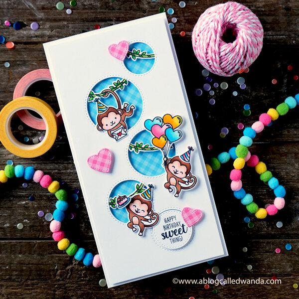 Happy Birthday monkeys card!