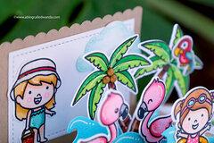 Tropical Pop Up Card!