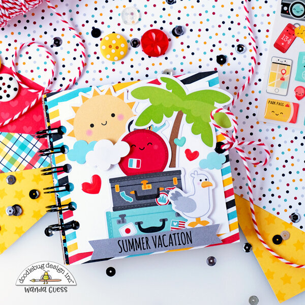 Travel Mini Scrapbook with Doodlebug Papers!