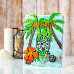Summer Tiki with Tim Holtz Products