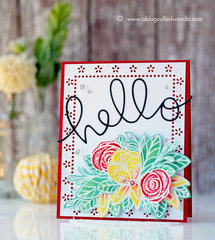 Card with Tonic Studios stamps and dies - For Summer!