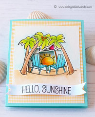 Art Impressions Seas the Day Tryfold Beach Card