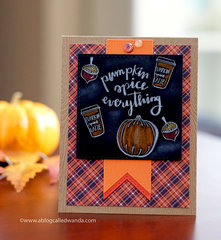 Pumpkin Spice Everything Card!