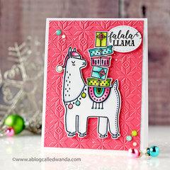 Festive Llama Christmas Card