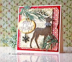 Proud Deer Christmas Card