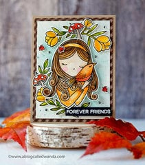 Autumn Princess - Fall Card with Waffle Flower Stamps