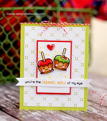 Cute Caramel Apples from Lawn Fawn