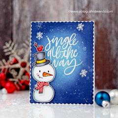 Jingle All The Way Snowman Card!